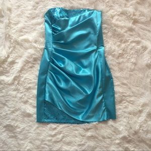 Turquoise Jessica McClintock Cocktail Dress